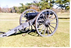 A cannon located at Fort Towson, Oklahoma.
