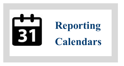 Non-Committee Reporting Calendar