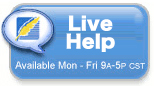Live Help is available Monday through Friday 9 a.m. to 5 p.m. central standard time