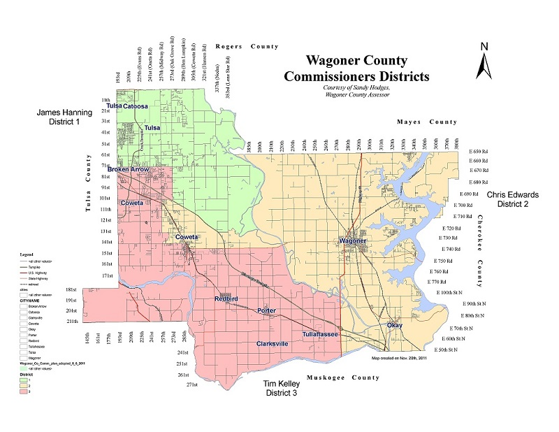 Commissioners Districts Map
