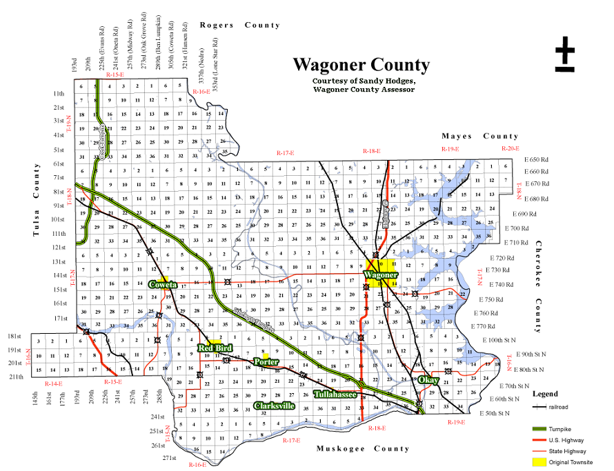 Wagoner County Map
